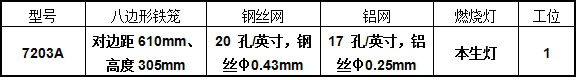 7203A型电池抛射(燃烧)试验机产品型号展示