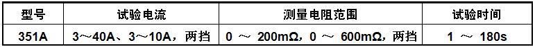 接地电阻测试仪规格参数